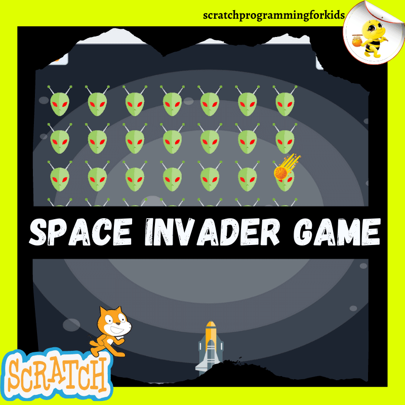 Space Invaders Game on Scratch