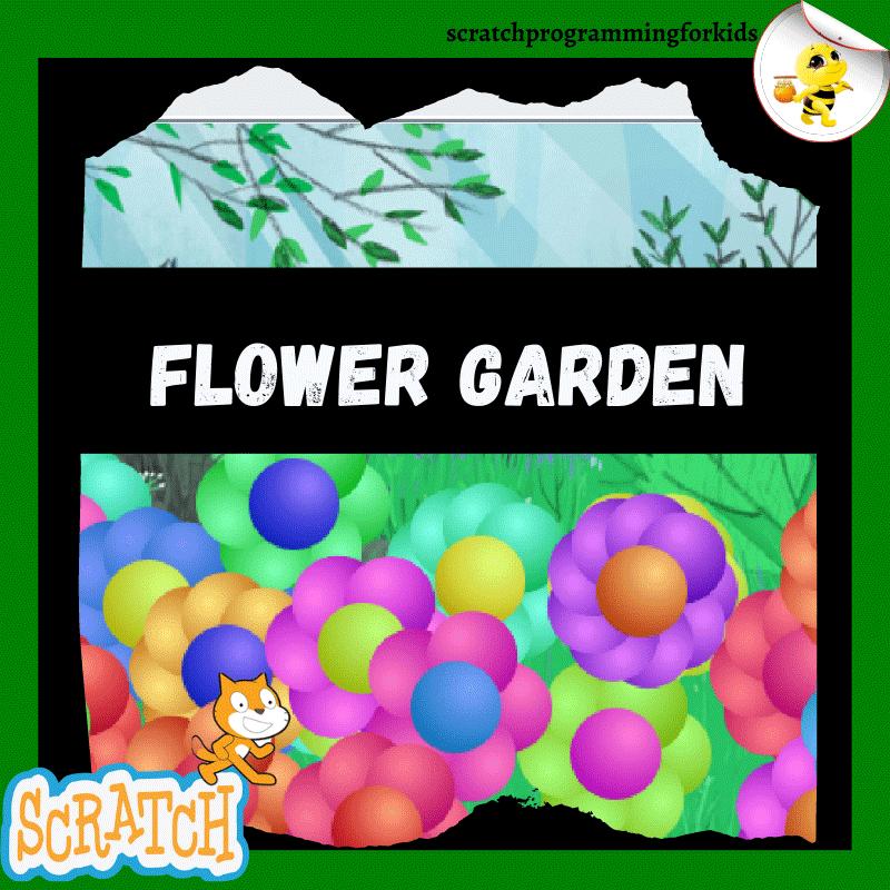 Virtual Flower Garden on Scratch